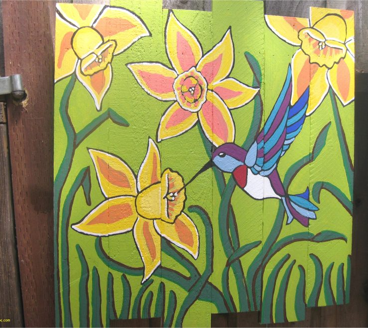 Ing Fence Painting Ideas Of For Year New Hummingbird