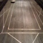 Inlay Flooring Designs Of Wood Floor With Metal Design