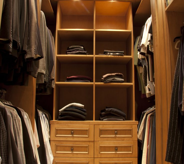 Inspiring Walk In Closet Designs Of With Suits For A Man