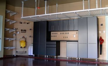 Interior Design For Best Garage Storage Ideas Of Organization Examples With Black Metal