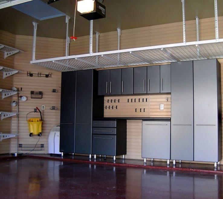 Interior Design For Best Garage Storage Ideas Of Organization Examples With Black Metal