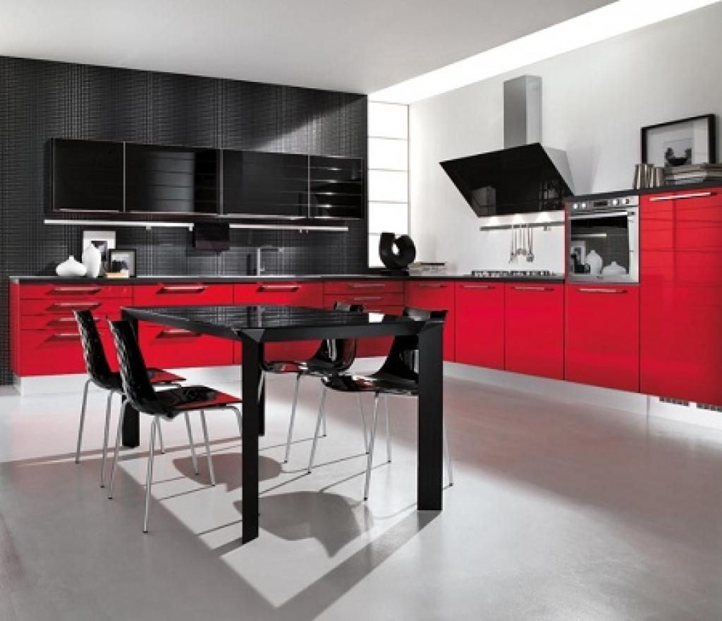 Interior Design For Black And Red Kitchen Of Luxury Color Scheme Idea White Ideas Designs Acnn Decor