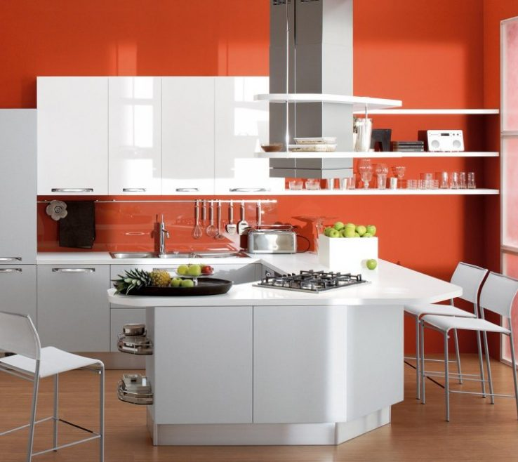 Interior Design For Orange Kitchen Ideas Of Beautifuk With White