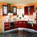 Interior Design For Orange Kitchen S Of Red And White Design Ideas