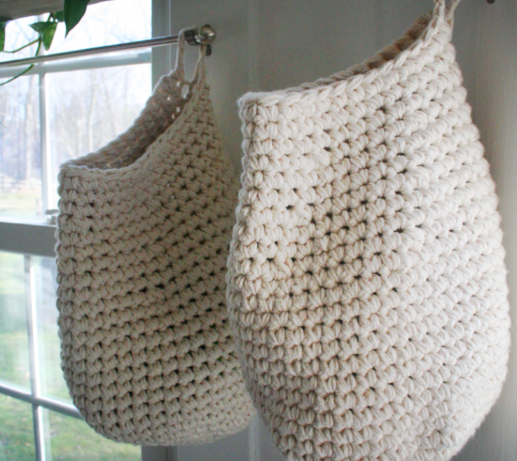 Interior Design For Picture Hanging Patterns Of Crochet Storage Basket With Hook