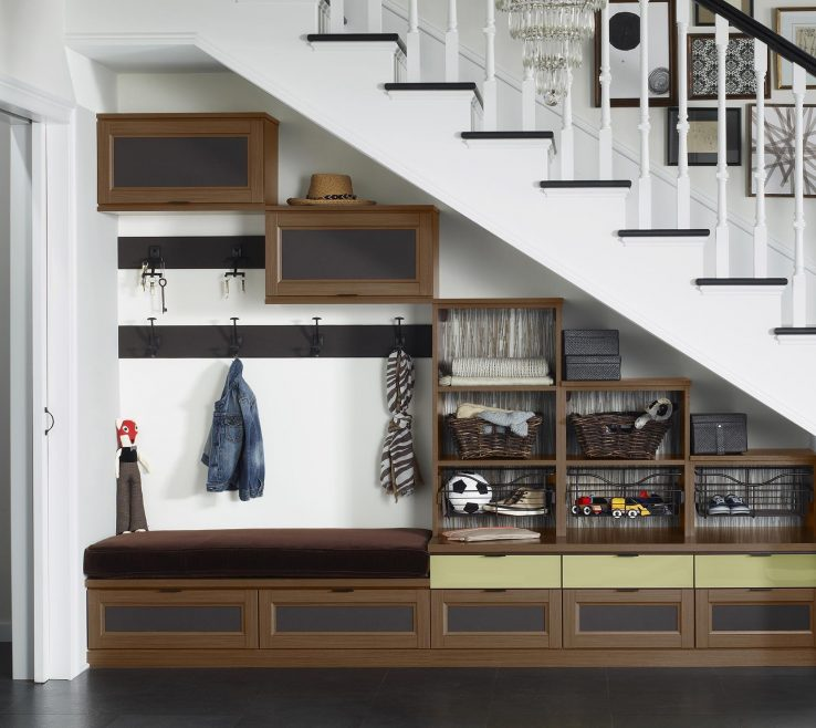 Interior Design For Shelving Solutions For Small Spaces Of Ashville Entryway