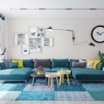 Interior Design For Sofa Pictures Living Room Of Turquoise A Bright Element