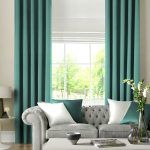 Likeable Curtains With Matching Roman Blinds Of Porec Card Aqua