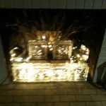 Likeable Glass Block Fireplace Of And Christmas Lights Alternative To Candles