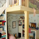 Likeable Kids Desk Area Of Loft Bed With Study And Play Underneath