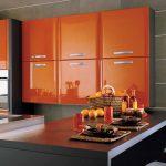 Likeable Orange Kitchen S Of Fascinating Burnt Decoration Ideas Design Green