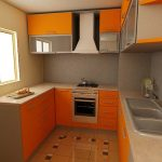 Likeable Orange Kitchen S Of Finishing Linea Furniture Production Superbealing Small Spaces