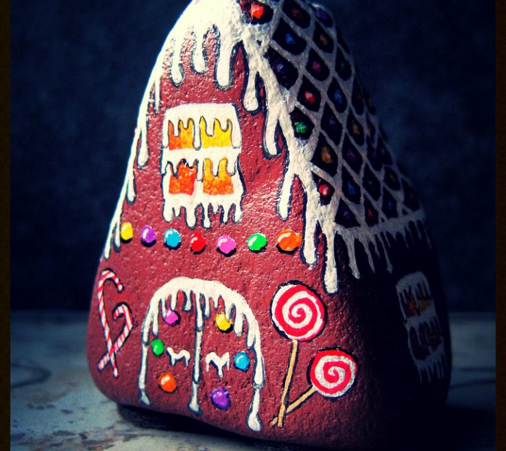 Lovely Painting Es On Rocks Of The Gingerbread E By Clickmyworld