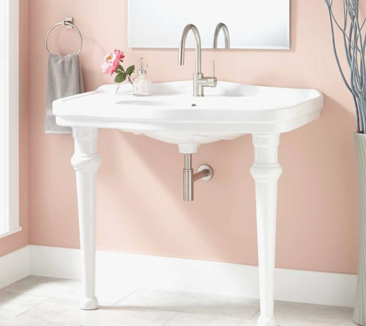 Lovely Small Bathroom Sink Vanity Of Narrow Sinks And Vanities Lovely Luxury Console