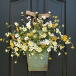 Magnificent Flower Arrangements For Front Door Of Country Cottage Decor Wreath