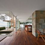 Magnificent Glass Block Fireplace