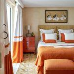 Magnificent Orange And Blue Decorating Ideas Of Bedroom Room Burnt Bedroom