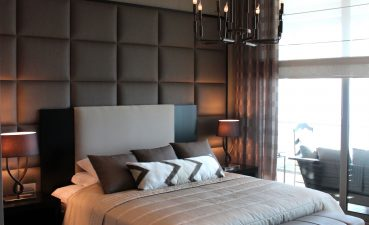 Master Bedroom Closet Design Of Leather Panelling Accent Wall Can Add