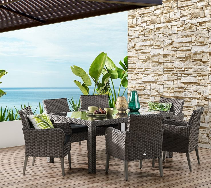 Mediterranean Style Outdoor Furniture Of Mediterranean Piece Setting