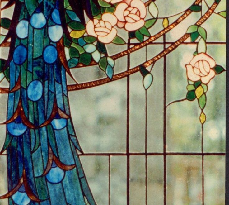 Mesmerizing Stained Glass Window Designs Home Of Detail Of Double Peacock Windowpeacock Window