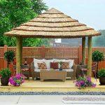 Mesmerizing Thatched Gazebo Designs Of Incredible Backyard Design Ideas