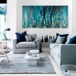 Modern Wall Painting Of Meteor Shower By QiqigalleryStretched Canvas