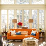 Orange And Blue Decorating Ideas Of Delectable Living Rooms With Moroccan Style Sofa