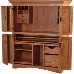 Pact Home Furniture Of Puter Armoire With Drawers And Bookshelves