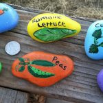 Painted Garden Stones Of Hand Or Markers Rock Art Vegetables Carrots