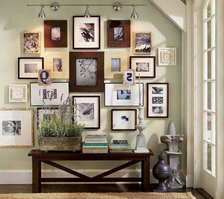 Picture Frame Wall Arrangements Of Decoration Family Photo Collage Design