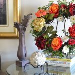 Picturesque Flower Arrangements For Front Door Of Custom Made Wreaths Roses Wreath Peony Wreath