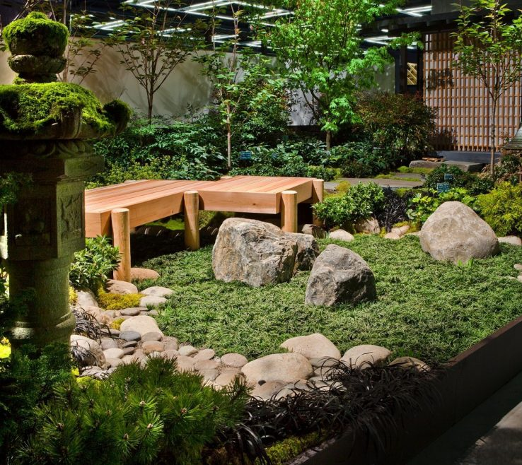 Picturesque Small Japanese Garden Design Ideas Of Calming And Natural For Skylight Idea