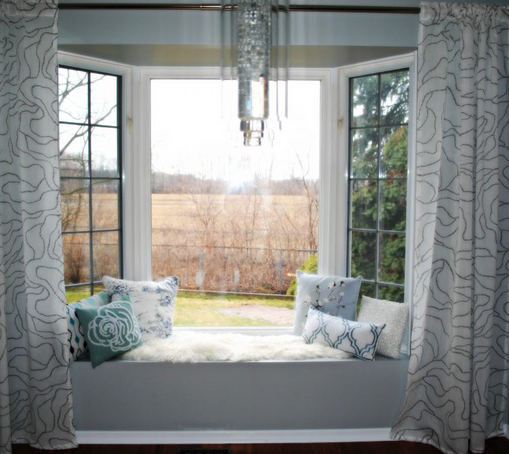 Remarkable Bay Window Design Ideas Of Bow Treatments Also Luxury Curtain Stylish Curtain