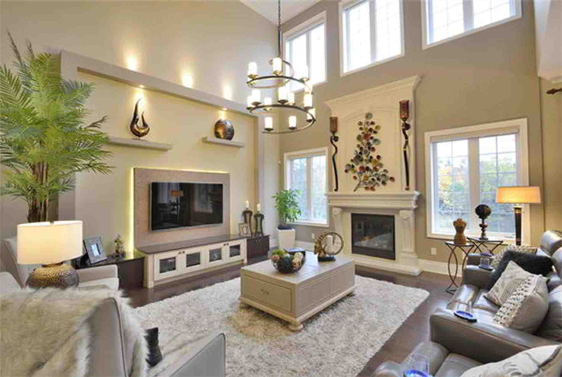 Remarkable Wall Decor For High Ceilings Of Ating Living Room Living Room Walls Acnn Decor