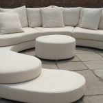 Round Sofa Set Designs Of White