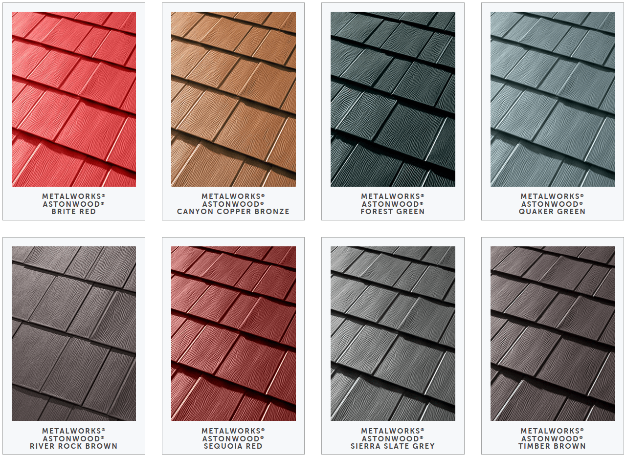 Sophisticated Color Roof Design Of Tamko Metalworks Metal Shingles Samples Acnn Decor