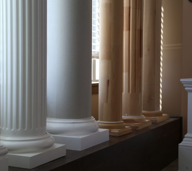 Sophisticated Interior Decorative Columns Of Elite Trimworks Offers A Wide Variety
