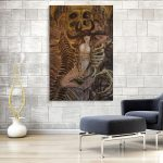 Sophisticated Modern Wall Painting Of Canvas Women Abstract Art For Living