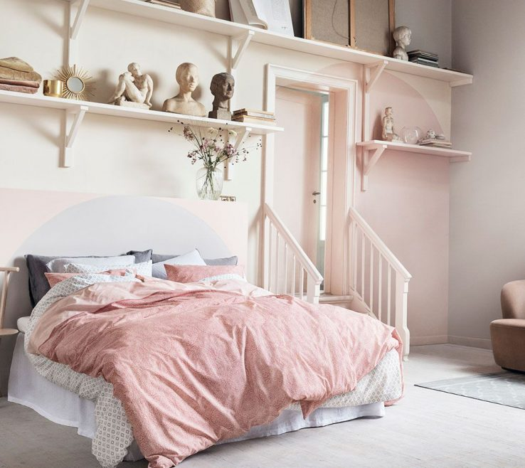Sophisticated Pink And Grey Bedroom