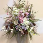 Superbealing Flower Arrangements For Front Door Of Beautiful Floral Wall Or By Madisoncornergiftllc