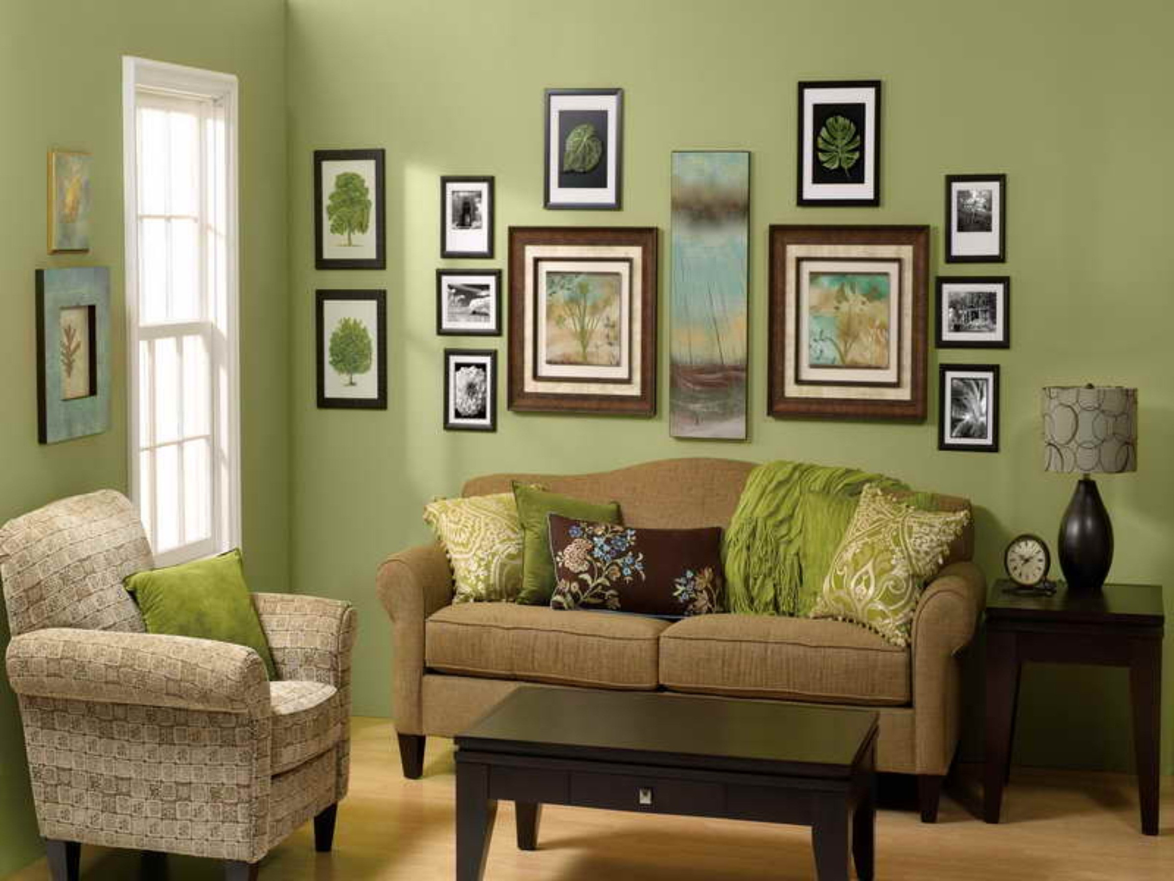 Green And Brown Living Room Acnn Decor