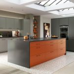 Unique Kitchens Painted Orange Of Modern Contemporary Zola Matte Kitchen In Zingy