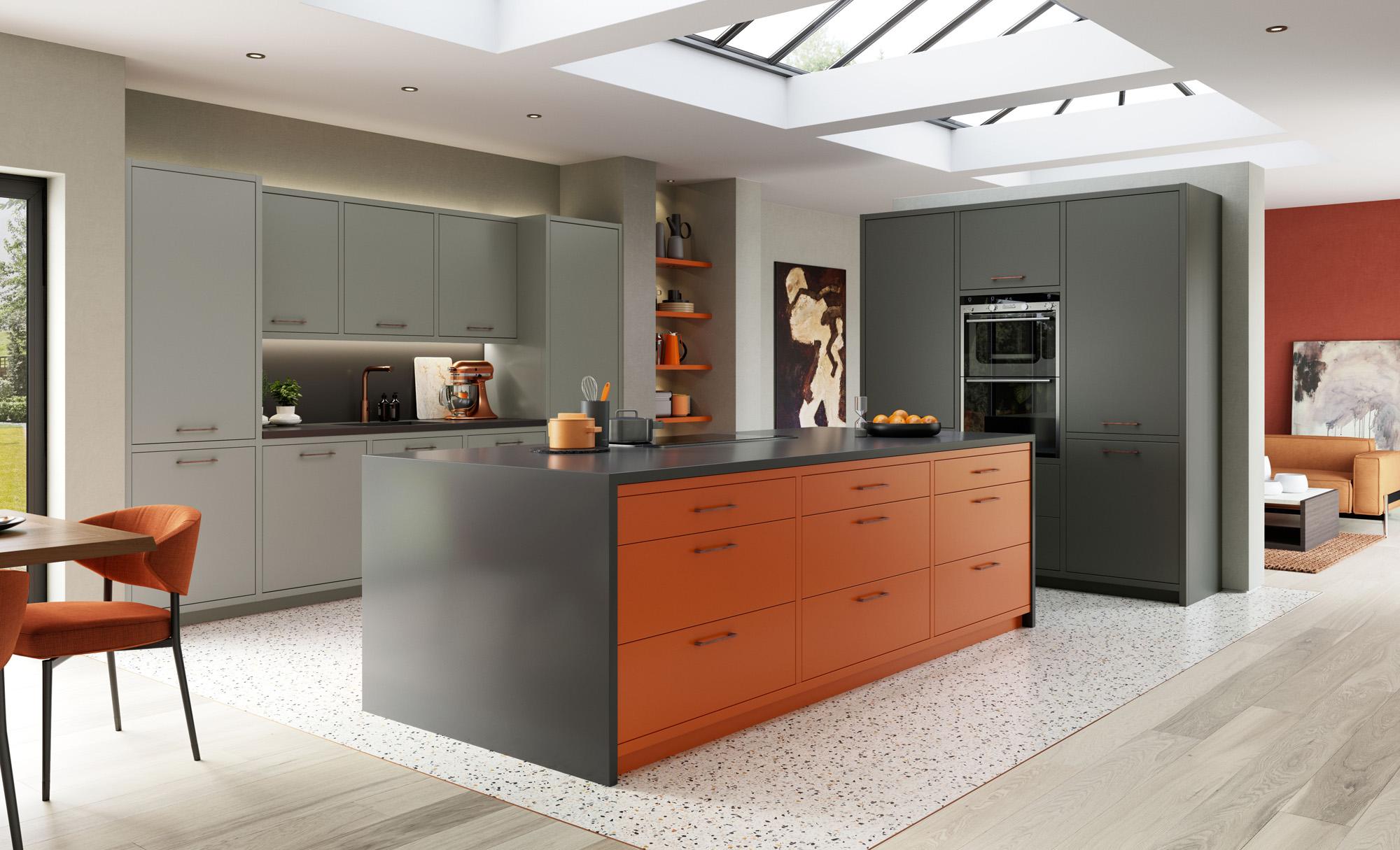 Kitchens Painted Orange Acnn Decor,Spa Website Inspiration