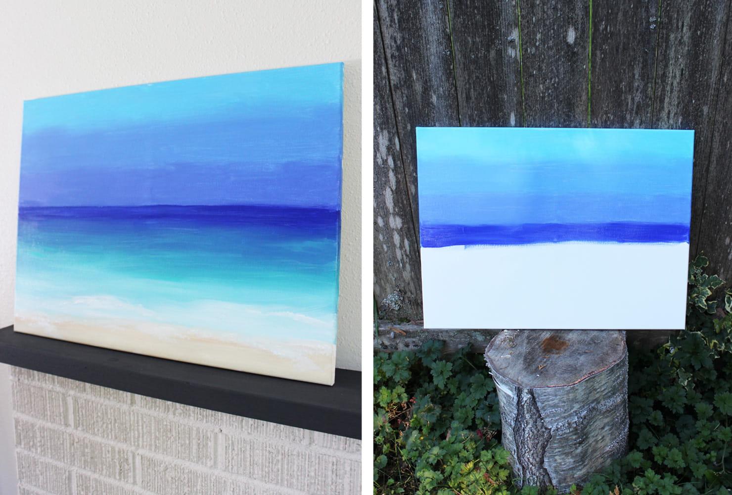 Unique Painting Ideas Of Diy Ocean Acnn Decor
