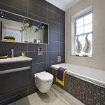 Vanity Black Toilet Bathroom Design Of Simple And Silver For Your Remodel