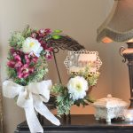 Vanity Flower Arrangements For Front Door Of Custom Made Wreaths Orchids Wreath Peony Wreath
