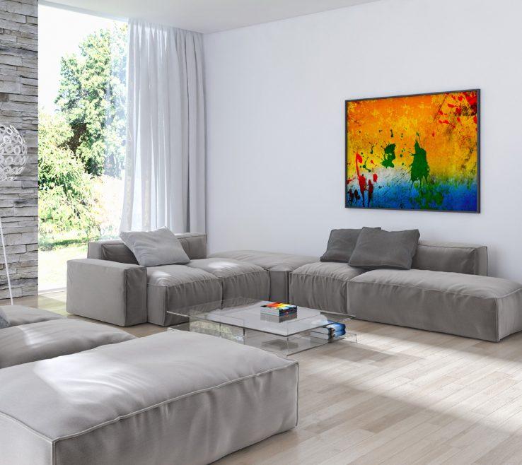 Vanity Splash Furniture Of Living Room Effect Decorative Painting