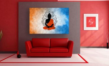 Wall Painting Modern Of Canvas Beautiful Buddha Art For Living