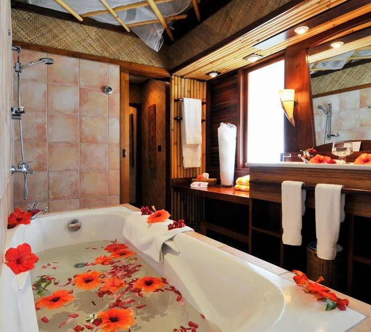 Wonderful Romantic Bathrooms Of Valentine Idea In Bathroom Showed By Glossy
