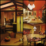 Adorable Brown And Orange Decor Of Kitchen Te Sets Were Typically Made